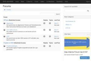 e107-Blog und Forum
