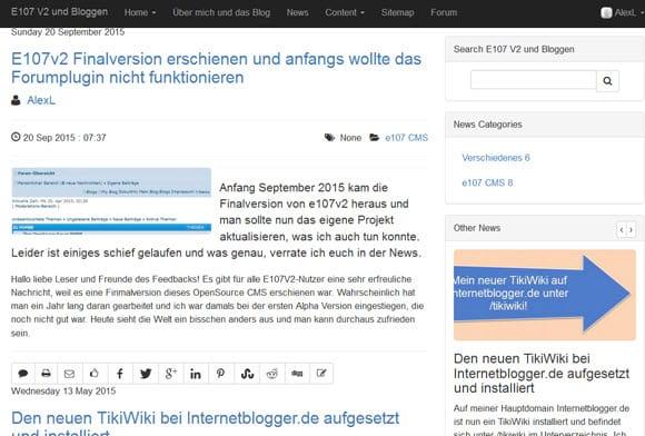 e107 2.1.1 OpenSource CMS erschienen - Bugfixes und Verbesserungen unter der Haube