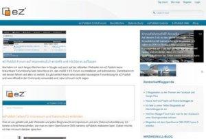 eZ Publish Portal auf der Startseite - Landing Page Home