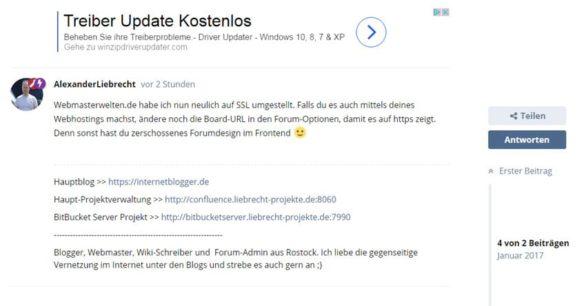 Flarum-Forum: Google Adsense Extension erschienen und Integration der Ads