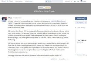 Flarum Forum Posting im Frontend