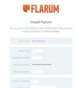 flarum-installation