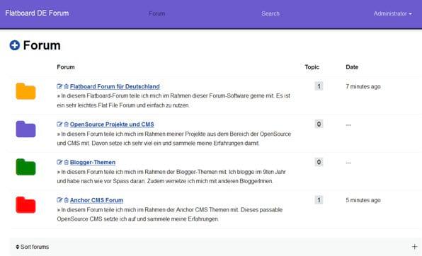 Flatboard-Forum: Impressum und Datenschutz einbinden