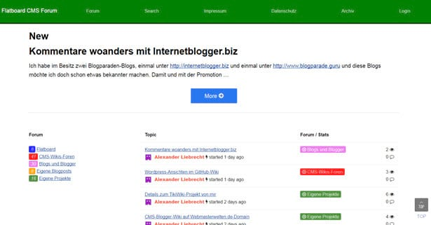 Flatboard Forum neue Version mit Bugfixes und neues Captcha-System