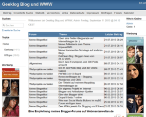 geeklog-blog-startseite