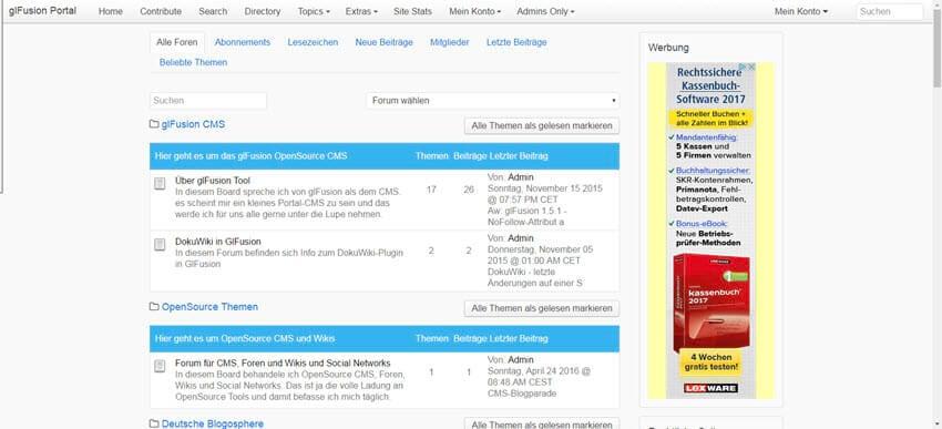 Glfusion 1.6.3 CMS online – Bugfixes und Verbesserungen