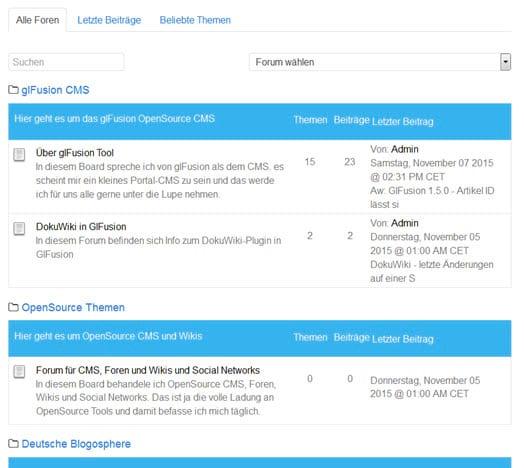 Wichtiges Update: glFusion CMS 1.5.1 erschienen