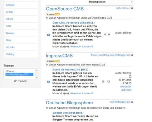 Artikelserie: ImpressCMS - Module imBlogging und imTagging