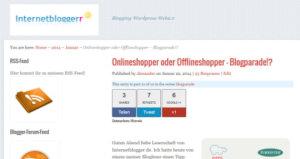 Internetblogger-de Onlineshopping-Blogparade