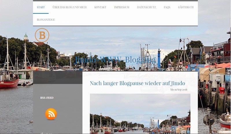 Ich blogge wieder etwas auf Jimdo und Blogspot.de
