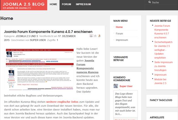 Joomla 3.4.6 erschienen und Kunena Forum Update 4.0.7 bei Joomla