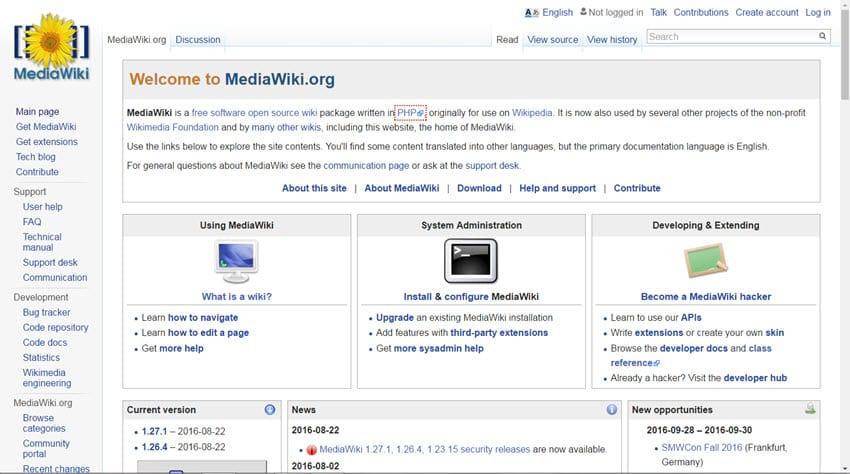 MediaWiki 1.27.1 - wichtiges Sicherheitsupdate - empfohlen