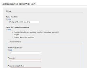 mediawiki-install_centos-7-installationsschritt5-wiki-name-und-benutzer-daten-eingeben