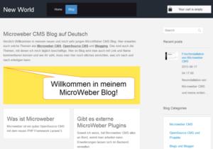 microweber-cms-blog-startseite