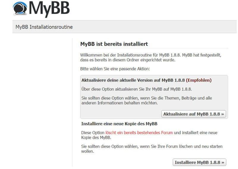 MyBB 1.8.8 erschienen - Fehlerbehebungen und Sicherheitsupdate