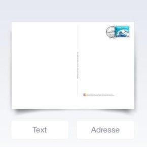 MyPostcard App Text eingeben
