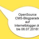 Blogparade: Welches CMS ausser WordPress habt ihr schon mal genutzt