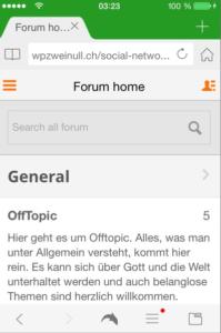 oxwall-mobile-forum-startseite