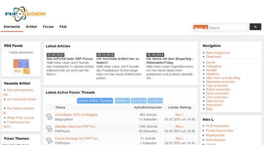 Wie man das OpenSource CMS PHP Fusion 7 erweitern kann