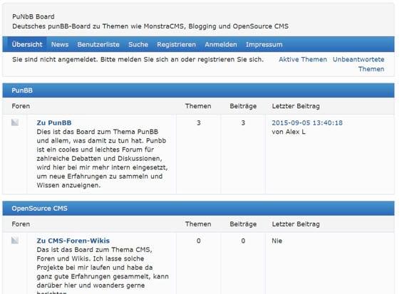 punbb-forum-frontend