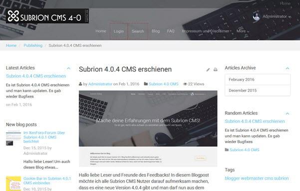Subrion 4.0.5 CMS erschienen – Updaten empfohlen