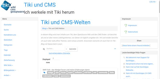 TikiWiki 15.0 stable verfügbar - Updaten empfohlen