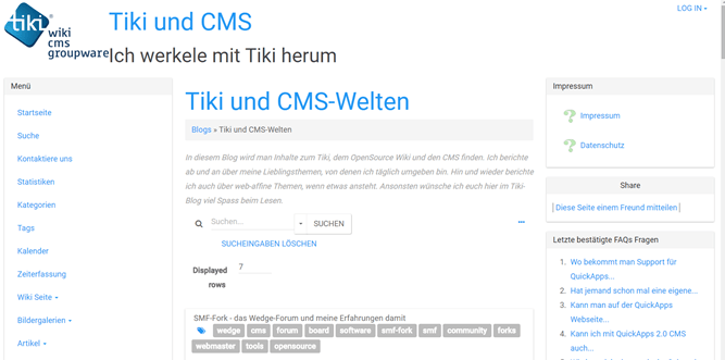 "TikiWiki-Fehler: ungültiger Variablenwert: $_GET[""blogId""] - Problemlösung"