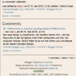 Meine Erfahrungen mit dem User Blog beim PHPBB-Forum
