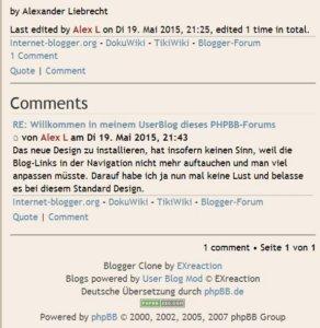 user-blog-phpbb-kommentar-sektion