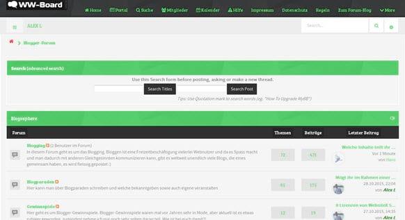 Blogger-Forum Webmasterwelten.de bald zwei Jahre alt