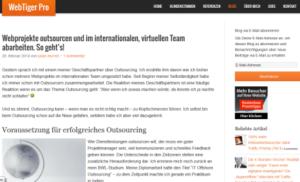 Webtiger-pro.de das Blog