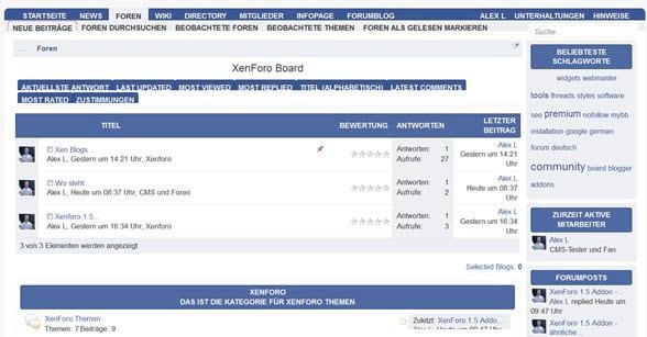 XenForo: Einstellen eines Listings in der Business Directory