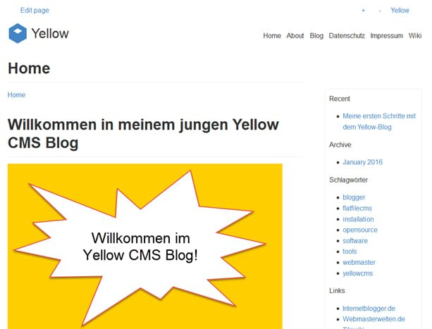 Yellow CMS Blog Frontend