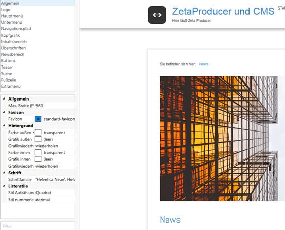 zeta-producer-layout-einstellungen