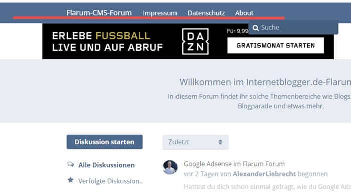flarum-forum-links-header-extension-links-internetblogger-de