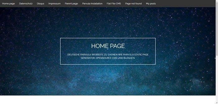 Wie du mit Parvula Static Page Generator bloggen kannst