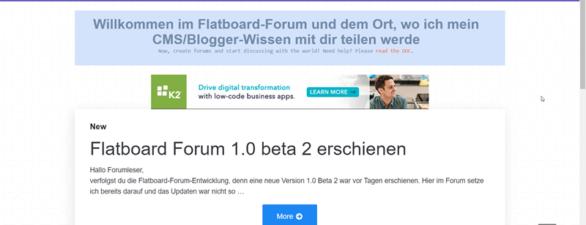 Flatboard 1.0 Beta 2 Forum erschienen – Bugfixes, BBCode-Editor und mehr