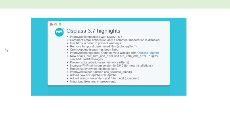 Kleinanzeigenmarkt osClass in neuer Version 3.7.3 mit Fehlerbehebungen