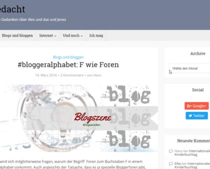 Blog-Kommentare-Runde mit Internetblogger.de vom 09.04.2017
