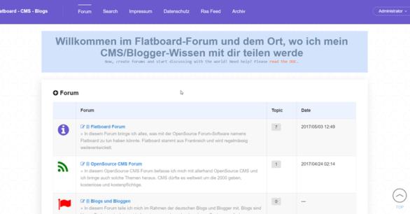 Flatboard OpenSource Forum als v1.0 beta 4 online verfügbar