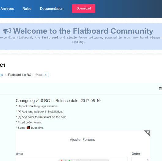 Flatboard Forum v1.0 RC 1 draussen mit Bugfixes und neuen Features - schaue es dir mal an!