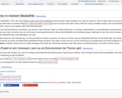 Sicherheitsupdates von MediaWiki 1.27.3 und 1.28.2