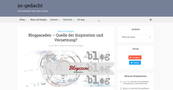 Blog-Kommentare-Runde mit Internetblogger.de vom 19.05.2017