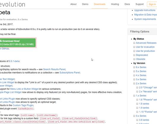 B2Evolution 6.9.2 beta erschienen - Bugfixes und neue Funktionen