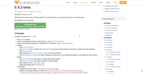 B2Evolution 6.9.2 beta erschienen – Bugfixes und neue Funktionen