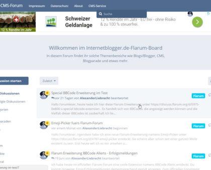 Updates: Flarum Forum auf Managed Server mit PHP 7.0 und MySQL 5.7