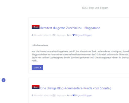 Funktionsweise des Flatboard-Forum-Blogs