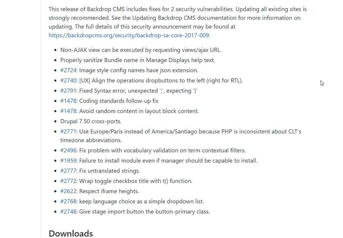 Backdrop 1.7.2 CMS Update draussen - Fehlerbehebungen und Sicherheit
