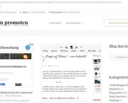 Aktueller Stand zu den Blogparaden-Promotion-Quellen