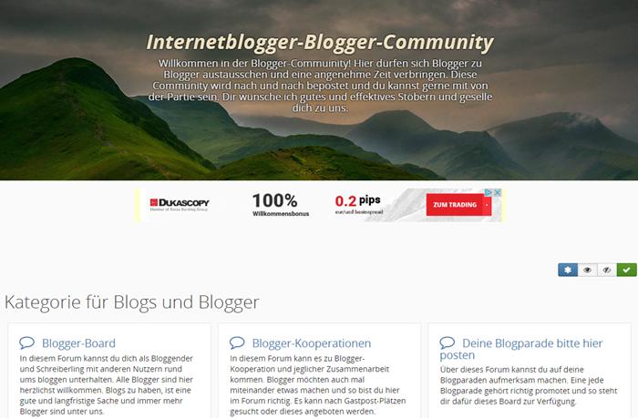 CBACK-Blogger-Community auf Internetblogger.de - im Frontend